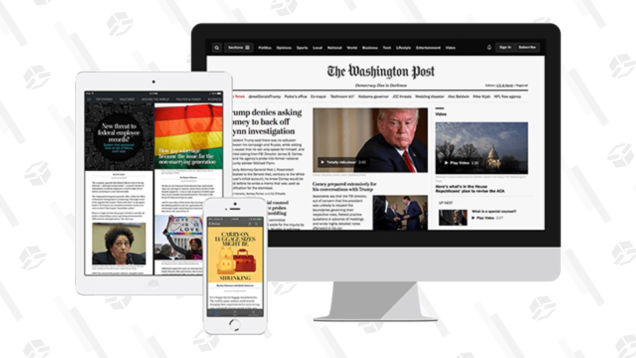 Stay In The Know With a Discounted Subscription to The Washington Post Online, Today Only