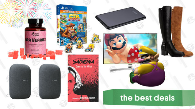 Thursday's Best Deals: LG 4K Monitor, Google Nest Audio 2-Pack, Crash Team Racing, Sunday Scaries CBD Gummies, Style & Co Dress Boots, Aukey Power Bank, and More